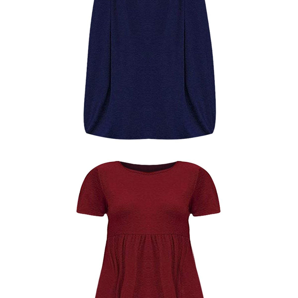 Maternity Dress Solid Color Loose Comfy Mom Dress image 5