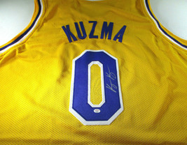 KYLE KUZMA / AUTOGRAPHED LOS ANGELES LAKERS CUSTOM BASKETBALL JERSEY / COA image 1