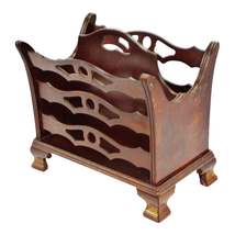 Vintage Butler Wood Magazine Rack - $195.00