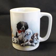 Otagiri Puppy Dog Coffee Mug Cup Linda Picken 8 oz White Beagle Dalmatio... - $15.99
