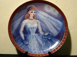 1959-High Fashion-Barbie Bride To Be-Danbury Mint Collectors Plate Susie Morton  image 2
