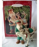Hallmark Keepsake Ornament Santa's Deer Friend Artist's Studio Collectio... - $14.85