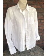American Eagle Outfitters Solid White Shirt Sz 8 AE Favorite Fit Cotton ... - $14.85