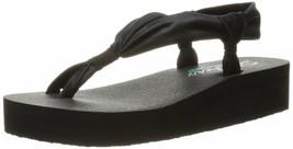 Skechers Cali Women's Vinyasa Loop-D-Loop Wedge Sandal 9 Black - $26.67