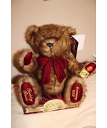 100 anniversary teddy bear new in package brown with burgundy - $13.86