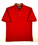 Roundtree & Yorke Mens Performance Work Play Golf/Polo Shirt RED - M - E... - $16.37