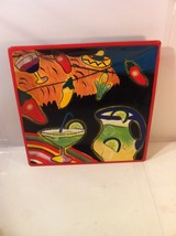 """CLAY ART CANTINA LIGHTS 14"""" SQUARE PLATTER--NO OTHERS AVAILABLE-SHIPS FR... - $53.95"""