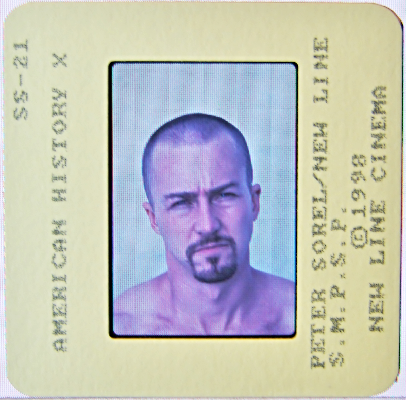 Primary image for 1998 AMERICAN HISTORY X Movie SLIDE Edward Norton & Furlong by PETER SOREL 1650