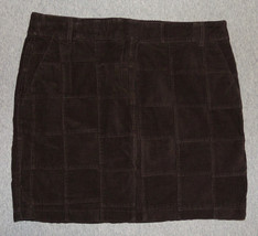 New Ann Taylor Loft Sz 8 Corduroy Patch Skirt Brown Straight Pencil Knee Length - $20.56