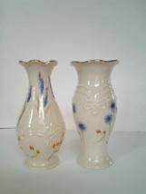 Lenox Floral Bud Vases Classic lot of 2 Ivory Spring Flowers Roses Vase... - $4.99