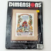 Vintage 1993 Dimensions Counted Cross Stitch Kit The Animals Cam Two by ... - $24.26