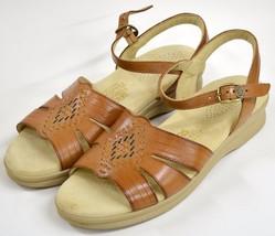 NIB SAS Huarache Sandals 7.5 S Slim Antique Tan Tripad Comfort USA Brown... - $64.99