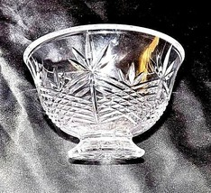 Cut Glass Candy Dish with Detailed Design AA18-11808   Vintage Heavy