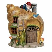 ABZ Brand Snail Shell Gnome House Garden Statue Friendly Frog - $21.77