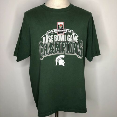 Alstyle 2014 Michigan State Rose Bowl Game Champion T Shirt Size XL Extra Large