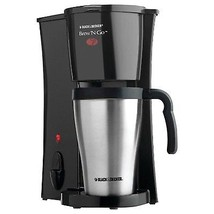 Black & Decker Personal 1 Cup Coffee Maker with Mug. Single Stainless St... - $28.99