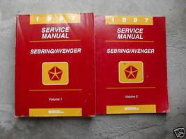 1997 Chrysler Sebring & Dodge Avenger Service Shop Reparatur Manuell Set 2 - $8.00