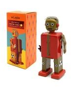 "PROTON ROBOT 5"" Saint St. John Wind Up Tin Toy Collectible Retro Space A... - $26.95"