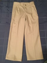 Boys Size 14 Regular Chaps pants khaki uniform pleated pants - $4.45