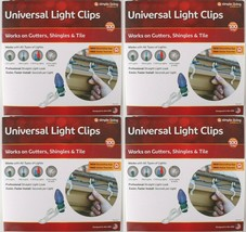 4x 100ct Simple Living Innovations Universal Christmas Light Gutter Clips NEW