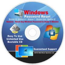 Windows Password Reset Remove On CD For Windows XP, VISTA, 7, 8.1, 10 - $9.90