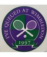 """""""I've Queued at Wimbledon 1997"""" 2-1/3"""" Sticker, New - $4.95"""