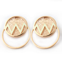 NeeFu WoFu Orecchini Resin brand Earring Oorbellen Dripping oil Big Earr... - $16.72