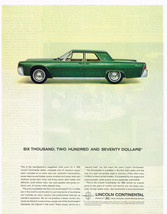 Vintage 1963 Magazine Ad Lincoln Continentals Standards The Highest In The World - $5.93