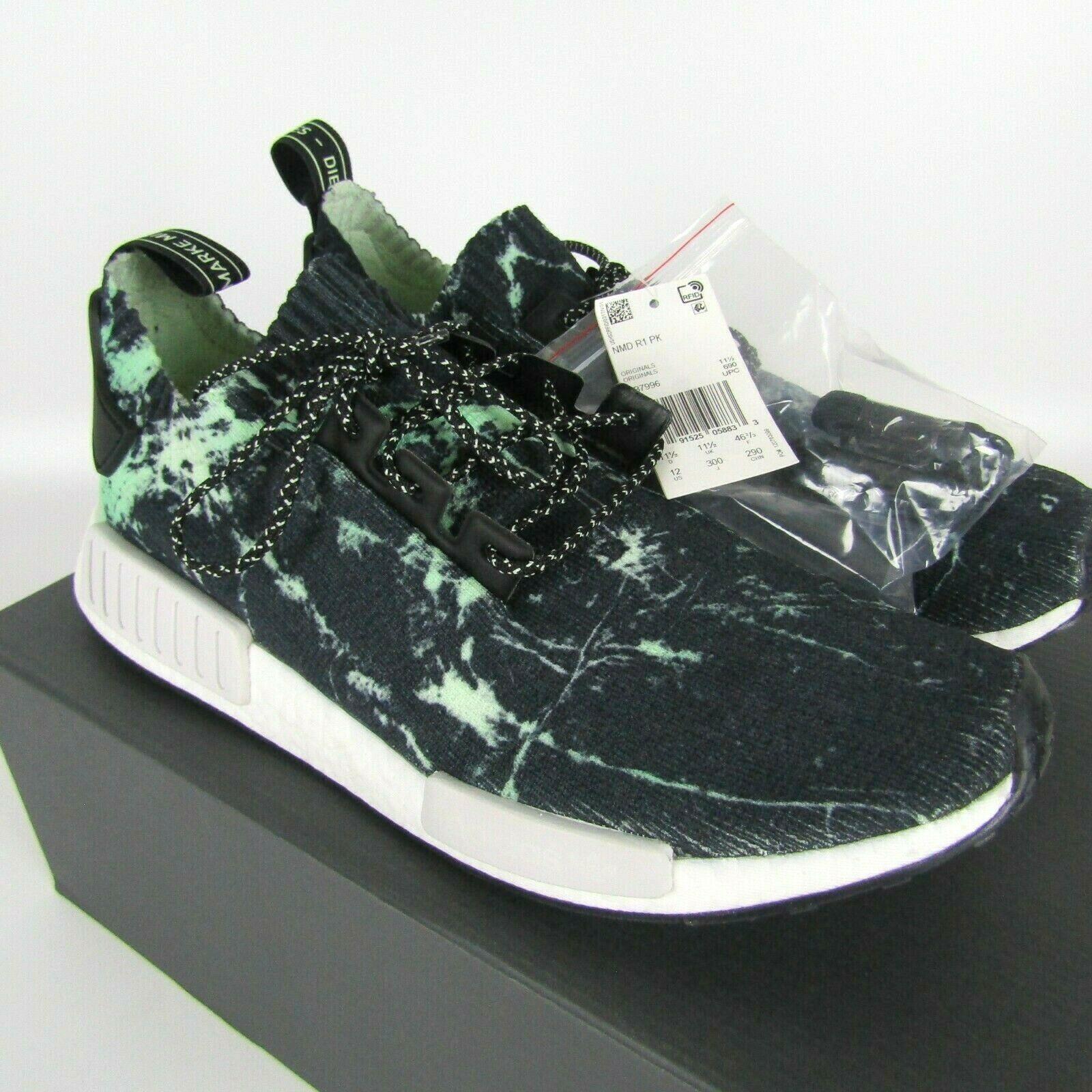 "Adidas Nmd_R1 Primeknit "" Grün Marmor "" Schuhe Herren Größe 12 BB7996 image 2"