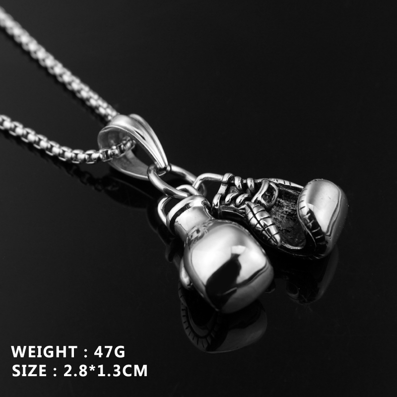 Personalized Couple Biker Boxing gloves design Pendan Necklace Gold Silver Plate