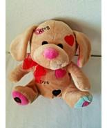 Walmart Puppy Dog Dream Plush Stuffed Animal Tan Brown Pink Blue Heart K... - $24.73
