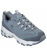 Skechers Dlites shoe Slate Women Sporty Memory Foam Sneaker Casual Lace ... - $49.99