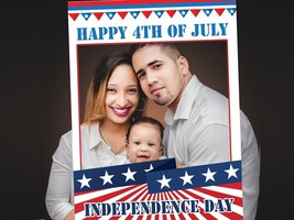 Custom Happy Independence Day 4th of July Party Photo Booth Prop Frame Decor USA - $15.83+