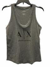 Women Gray Armani Exchange Gray Ribbed Tank Top Sleeveless Sz Small image 1