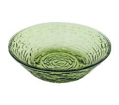"Soreno Glass Salad/Cereal Bowl Avocado Green VTG Anchor Hocking 6"" MCM - $7.95"
