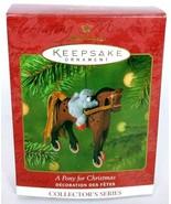 Hallmark Keepsake Christmas Ornament A Pony For Christmas Series 4 - $11.04
