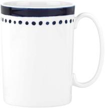 Kate Spade Charlotte Street East Coffee Tea Mug Blue Dotted Set of 4 - $84.15
