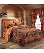 The Woods Camo Orange 7 piece King Comforter and Sheet Sets - $90.25