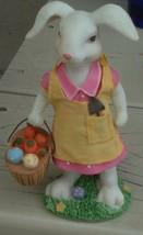 Greenbrier Resin Figurine - Easter Egg Basket - VGC - GREAT BUNNY FIGURINE - $9.89