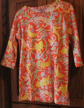 BARBARA GERWIT cotton lycra jungle animal print dress size S, could be long top? - $69.99