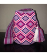 Authentic 100% Wayuu Mochila Colombian Bag Large Size Single Thread Lave... - £114.04 GBP