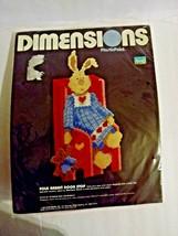 Folk Rabbit Doorstop Kit Vintage Barbara Mock Plastic Point Dimensions NEW - $10.70