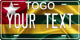 Togo Flag License Plate Personalized Custom Auto Bike Motorcycle Tag - $10.59+
