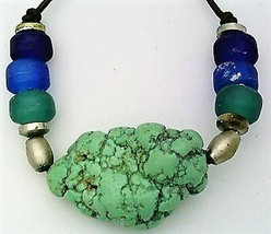 Turquesite Gemstone Nugget Necklace 1 - $10.95