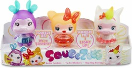 LITTLE TIKES SQUEEZOOS SMALL CHARACTER 3-PACK (HIPPO, CAT, UNICORN) BRAN... - $13.54