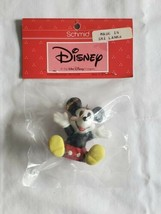Schmid Vintage Porcelain Sitting Mickey Mouse Ornament Walt Disney NOS HTF  - $22.72