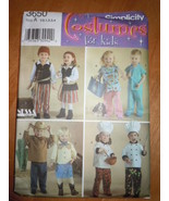 Simplicity Toddler's Costumes Pirate Dr. Cowboy Chief Size ½ – 4 #3650 U... - $4.99