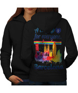 Gay Pride Love Barcelona Sweatshirt Hoody Spain City Women Hoodie Back - $21.99+