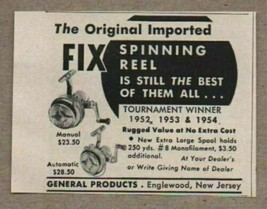 1947 Print Ad Fix Spinning Fishing Reels General Products Englewood,NJ - $8.49