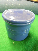 Great Collectable Longaberger Dark Blue Cheese Crock With Lid...............Sale - $6.24
